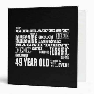 """49.o Años más grandes de la fiesta de cumpleaños Carpeta 1 1/2"""""""