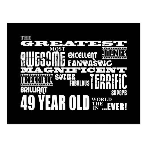 49.o Años más grandes de la fiesta de cumpleaños l Postales