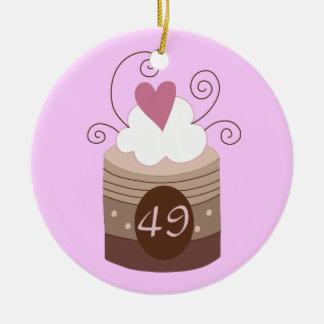 49.o Ideas del regalo de cumpleaños para ella Ornamento De Navidad