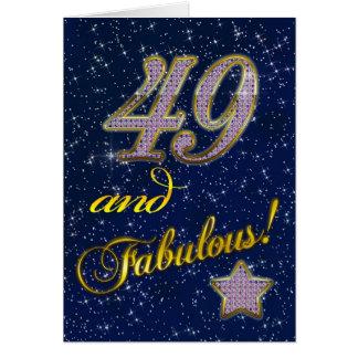 49.o Invitación de la fiesta de cumpleaños Tarjeton