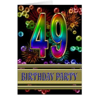 49.o Invitación de la fiesta de cumpleaños Tarjeta