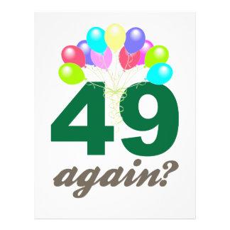 """49.o Regalos de cumpleaños/Souvenits Folleto 8.5"""" X 11"""""""