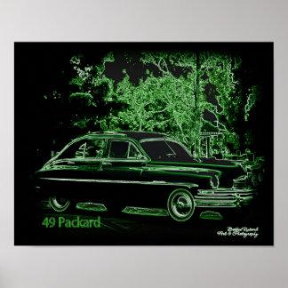 49 Packard in Neon Poster