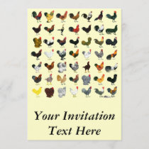 49 Roosters Invitation