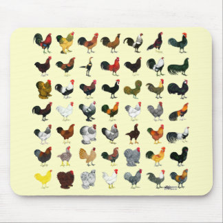 49 Roosters Mouse Pad