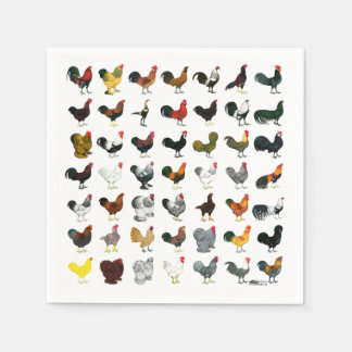 49 Roosters Napkin