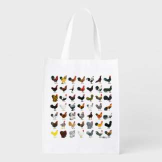 49 Roosters Reusable Grocery Bag