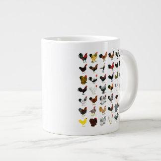 49 Roosters 20 Oz Large Ceramic Coffee Mug