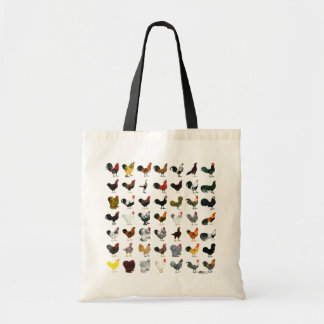 49 Roosters Tote Bag