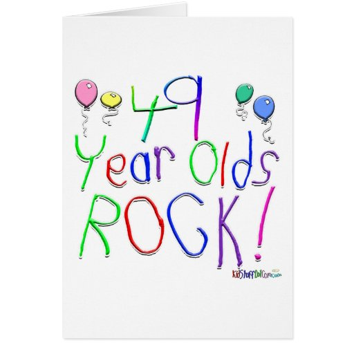 49 Year Olds Rock! Greeting Card