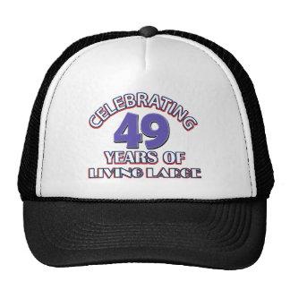 49 years of living large birthday designs trucker hat