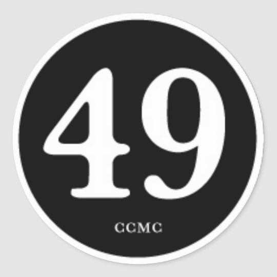 "49CC MC "" PATCH OF HONOR"" CLASSIC ROUND STICKER"