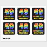 [ Thumbnail: 49th Birthday: Bold, Fun, Simple, Rainbow 49 Sticker ]