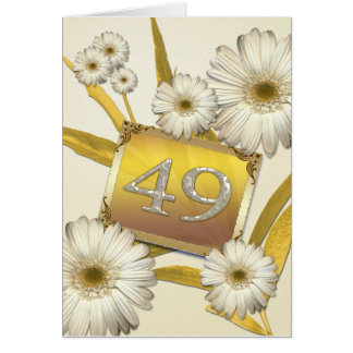 49th Birthday card with daisies.