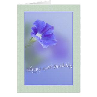 49th Birthday Card with Petunia