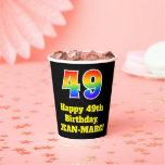 [ Thumbnail: 49th Birthday: Colorful, Fun, Exciting, Rainbow 49 ]