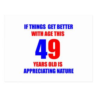 49th birthday design postcard