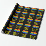 [ Thumbnail: 49th Birthday: Fun, Colorful Rainbow Inspired # 49 Wrapping Paper ]