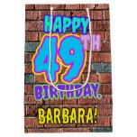[ Thumbnail: 49th Birthday: Fun, Urban Graffiti Inspired Look Gift Bag ]