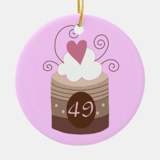 49th Birthday Gift Ideas For Her Double-Sided Ceramic Round Christmas Ornament