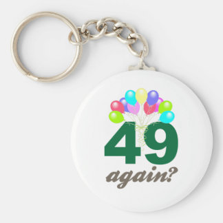 49th Birthday Gifts / Souvenits Basic Round Button Keychain