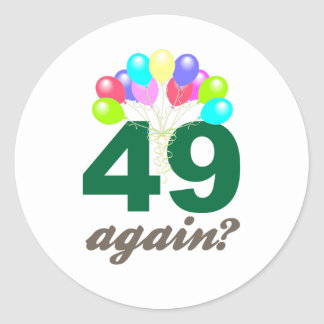 49th Birthday Gifts / Souvenits Classic Round Sticker