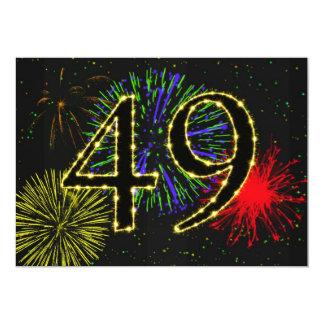 49th birthday party invitate card