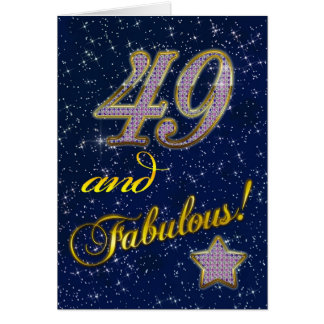 49th Birthday party Invitation Greeting Card