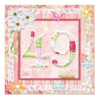 49th birthday party scrapbooking style card