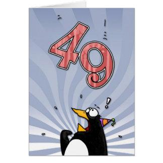 49th Birthday - Penguin Surprise Card