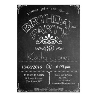 49th Chalkboard Birthday Celebration Invitation