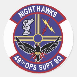 49th OSS Night Hawks Classic Round Sticker