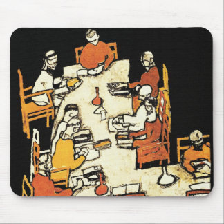 """49th Secession Ausstellung (""""friends"""") by Schiele Mouse Pad"""