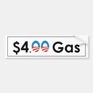 4 00 Gas de Obama Etiqueta De Parachoque