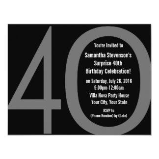 4-0 invitaciones grandes de la fiesta de anuncios personalizados