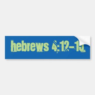 4:12 de los hebreos - pegatina para el parachoques pegatina para auto