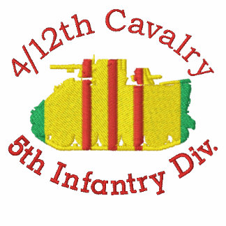 4/12th Cavalry 5th Inf. Div M113 Embroidered Shirt