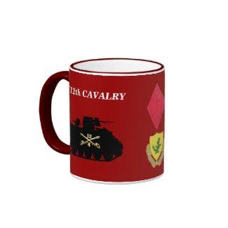 4/12th Cavalry M113 ACAV Track Mug mug