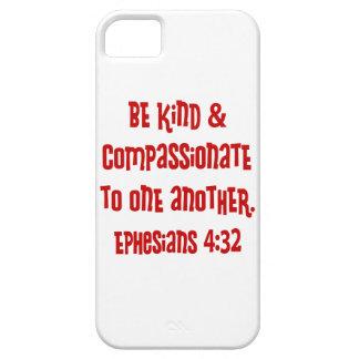 4:13 de Ephesians, rojo Funda Para iPhone SE/5/5s