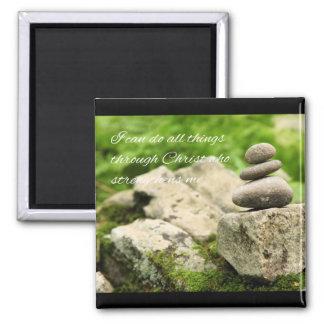 4:13 de equilibrio de los filipenses de las rocas imán cuadrado