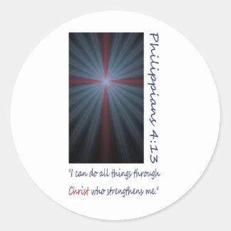 4 13 de la cruz de Phil Pegatinas