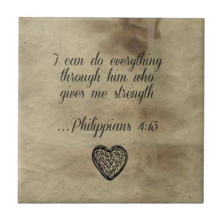 4:13 de los filipenses del verso de la biblia azulejo cerámica
