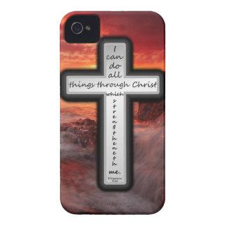4:13 de los filipenses iPhone 4 Case-Mate carcasas