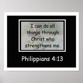 4:13 de los filipenses póster