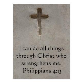 4:13 de los filipenses que inspira verso de la postal
