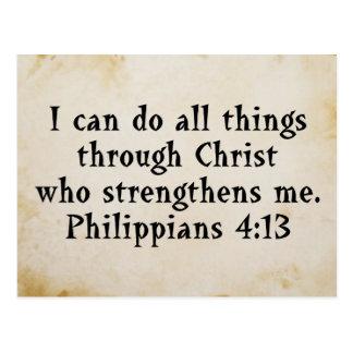 4:13 de Phil de la escritura Tarjeta Postal
