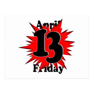 4-13 Friday the 13th Postcard