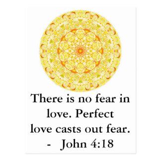 4:18 de Juan - CITA BÍBLICA inspiradora Tarjetas Postales
