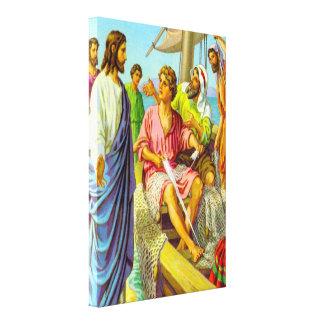 4:18 de Matthew - lona de 22 de Jesús pescadores Impresiones En Lona Estiradas