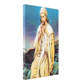 4:1 de Matthew - 11 Satan tienta a la lona Lienzo Envuelto Para Galerias